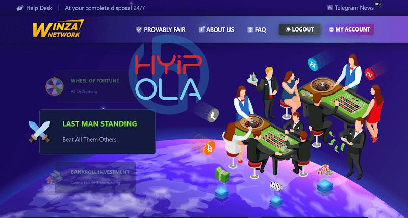 [SCAM] Review Winza - Kết hợp hoàn hảo trò chơi Casino, nhận tiền miễn phí, đầu tư góp cổ tức lãi từ 2% hằng ngày
