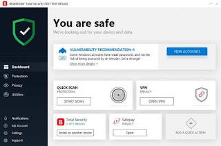 تحميل  برنامج بت ديفندر 2020 bitdefender total security  كامل مع التفعيل مجانا