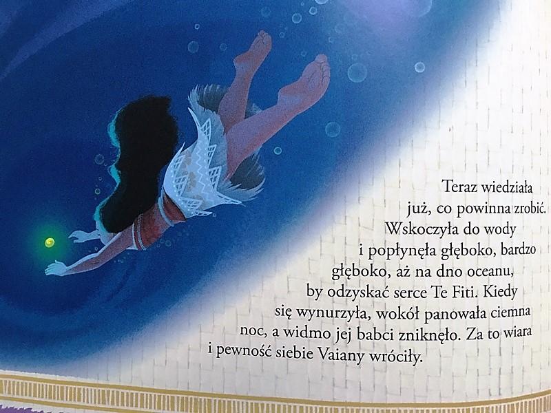 """Vaiana. Skarb oceanu"" wydawnictwo Egmont."
