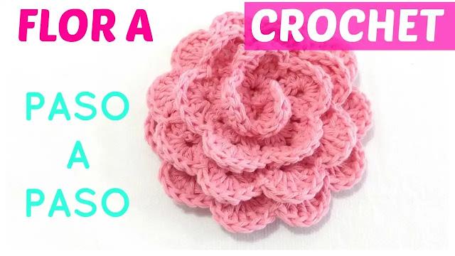 Cómo Tejer una Flor a Crochet Paso a Paso sin Perder Detalles