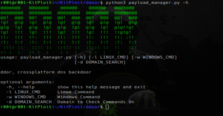 DDoor : Cross Platform Backdoor Using DNS txt Records