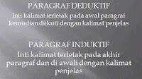 Contoh Paragraf Deduktif dan Paragraf Induktif