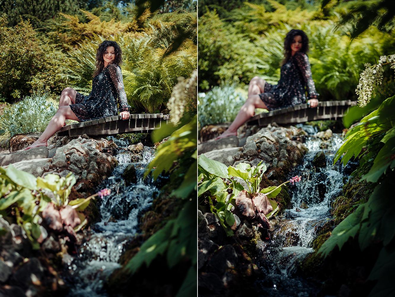 kobieta, ogród botaniczny, Lublin, fotograf