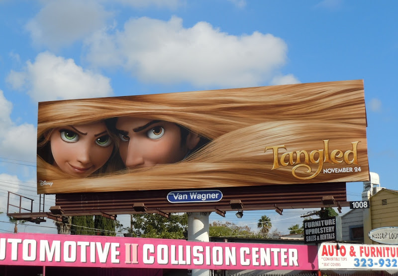 Disney Tangled billboard