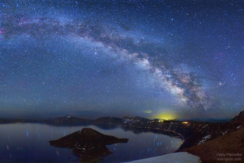 Milky Way and Crater Lake