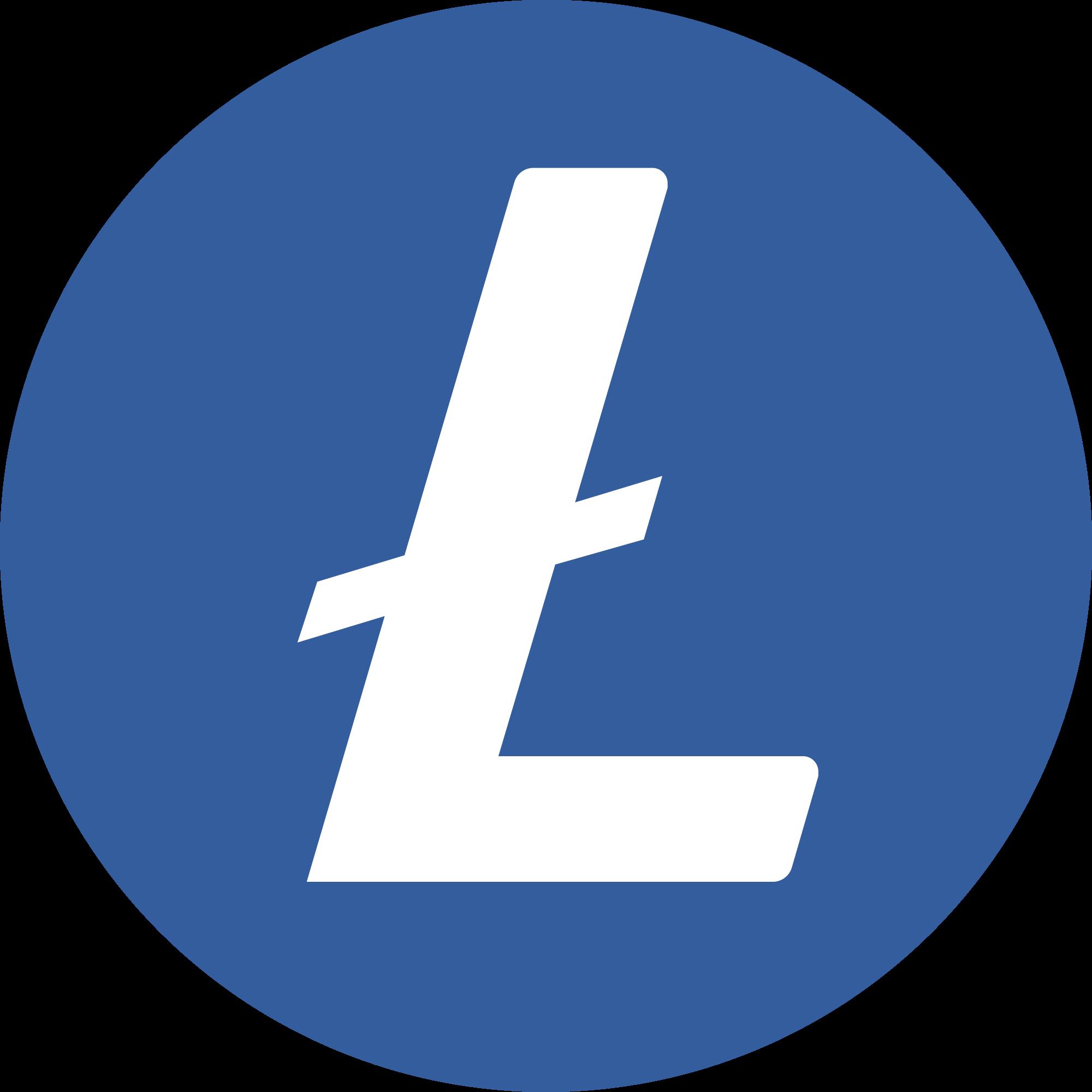 litecoin ltc logo transparent png background free download