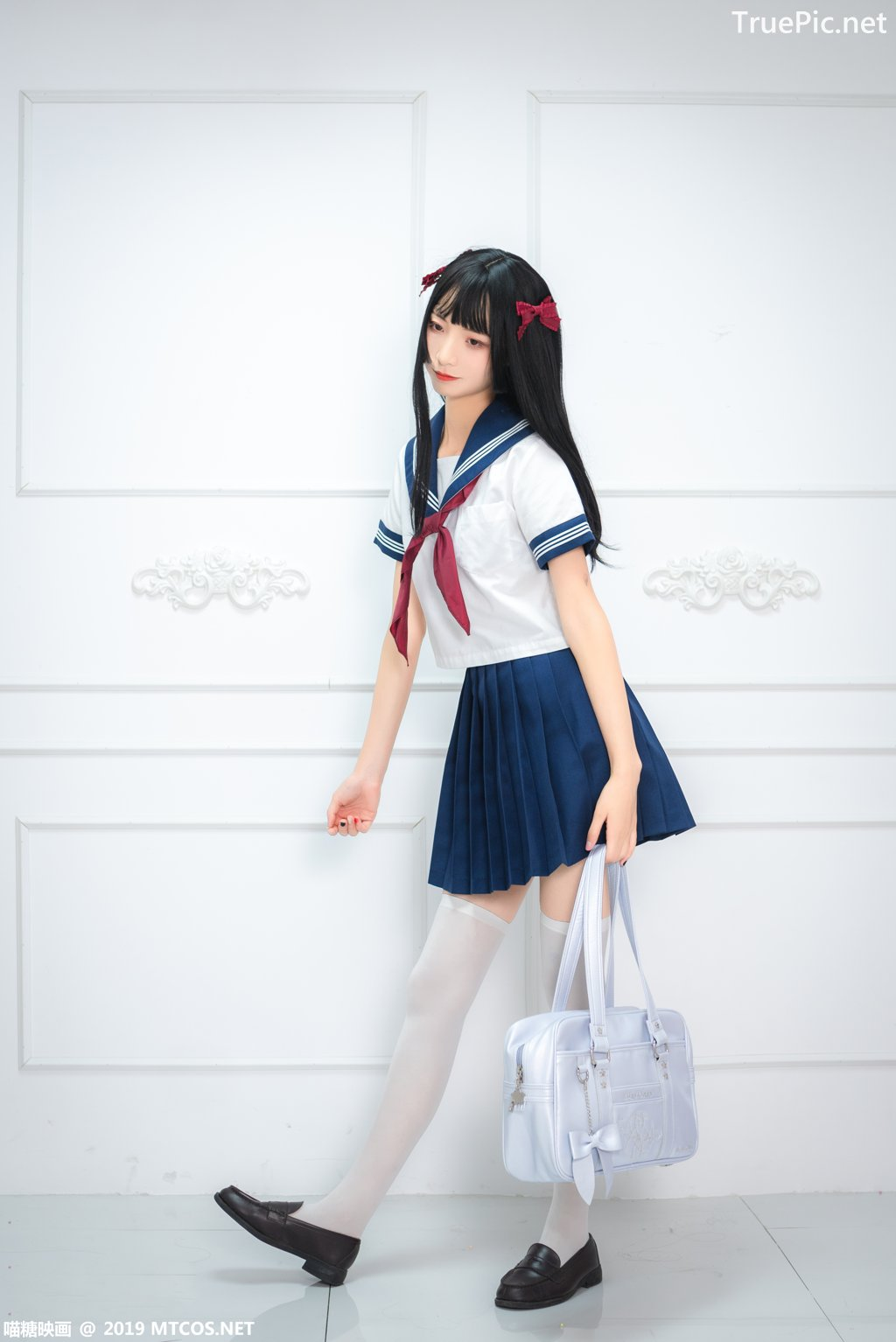 Image-MTCos-喵糖映画-Vol-012–Chinese-Pretty-Model-Cute-School-Girl-With-Sailor-Dress-TruePic.net- Picture-8