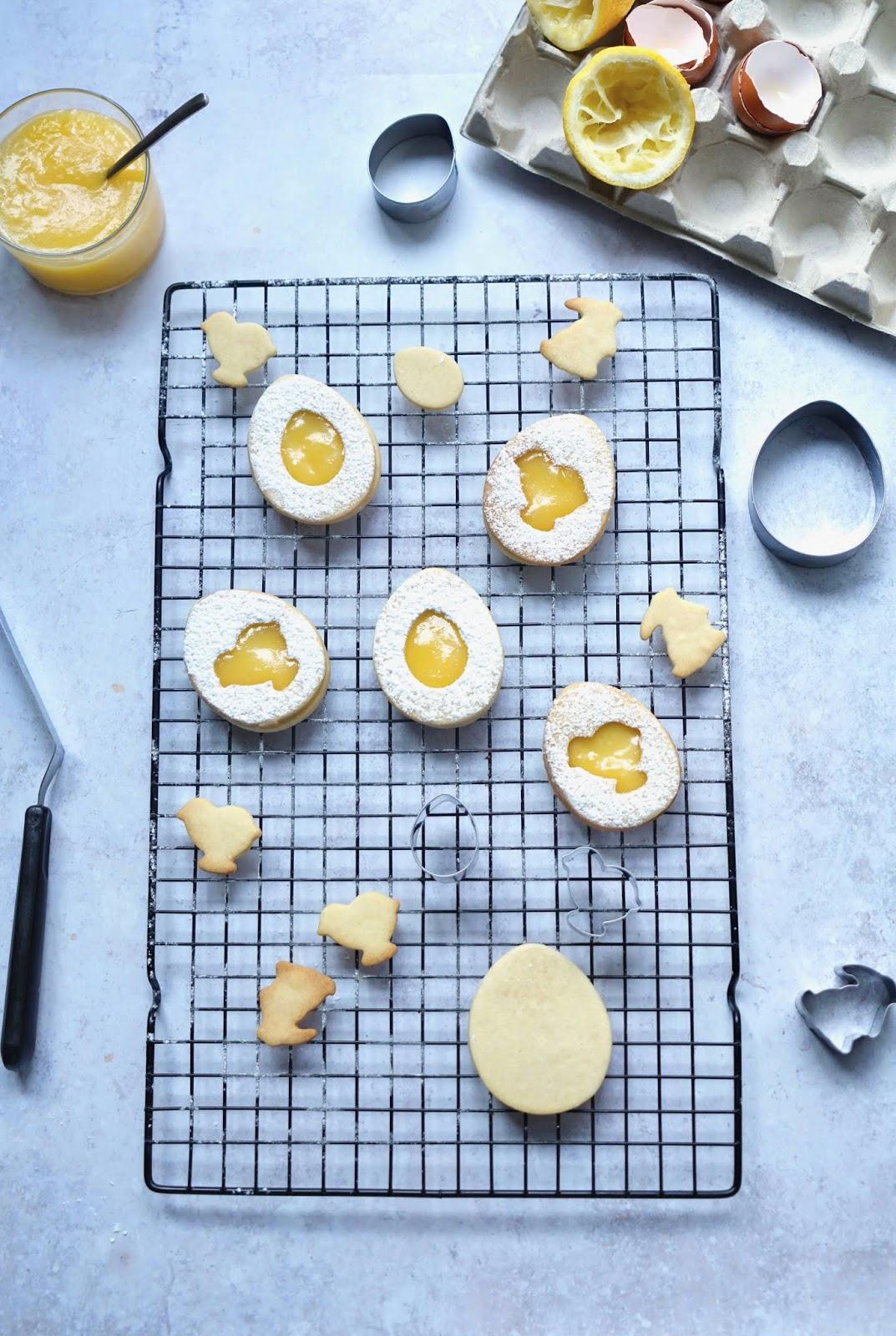 petits gâteaux de Paques , lemon curd , gouter trop bon