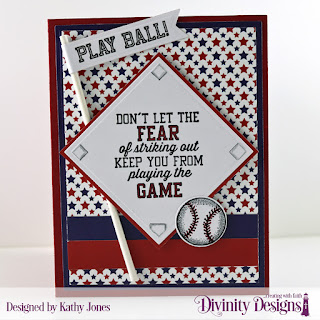 Stamp/Die Duos: Baseball  Paper Collection: America the Beautiful Custom Dies:  Book Fold Card with Layers, Squares, Pennant Flags, Sparkling Stars, Rounded Rectangles