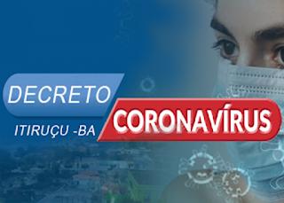 Itiruçu registra o 72º caso confirmado de COVID-19 são 66 curados