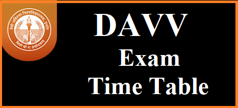 davv exam time table 2018 - davv mponline ug pg time table