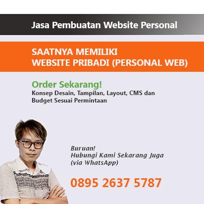 website pribadi, personal website, jasa pembuatan website pribadi