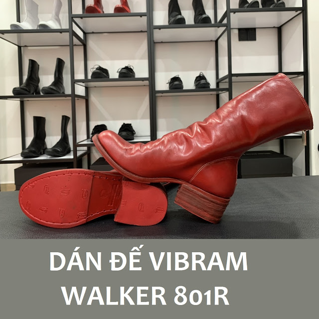 Dán đế Vibram mẫu giày Walker 801R