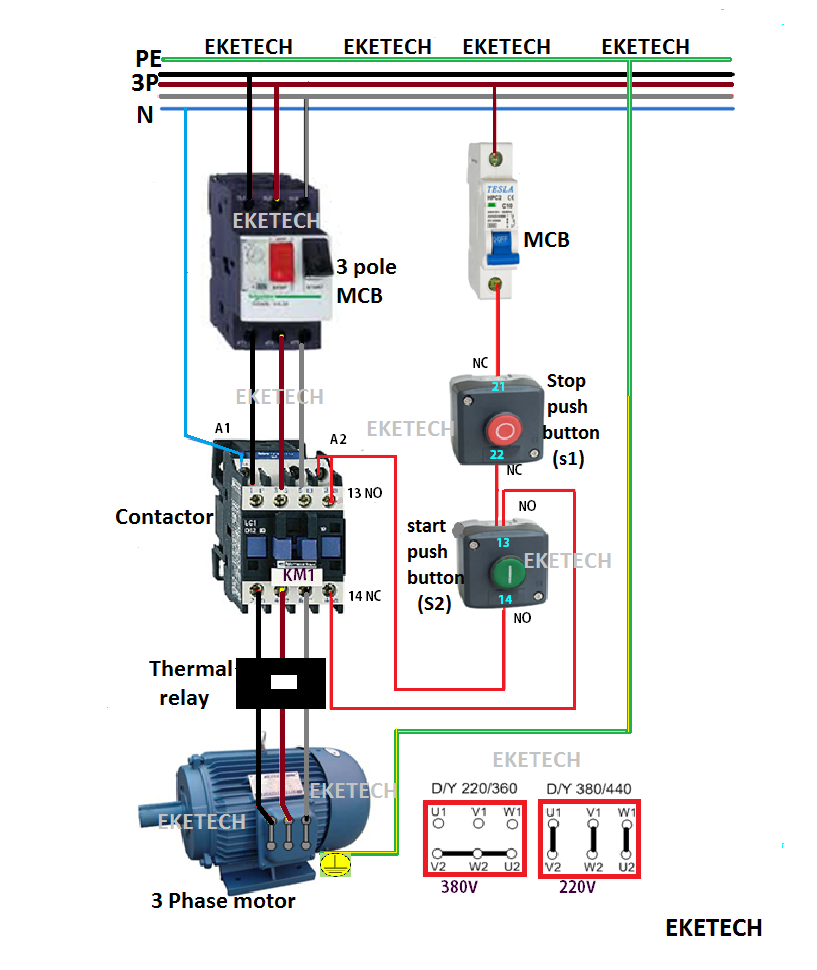 Direct On Line Starter Wiring Diagram