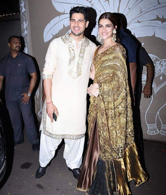 Siddharth malhotra with kriti Sanon at diwal bash