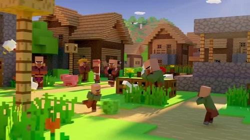 Minecraft có nền bối cảnh liếc qua rất cũ kỹ, tạo xúc cảm...nhẹ hều
