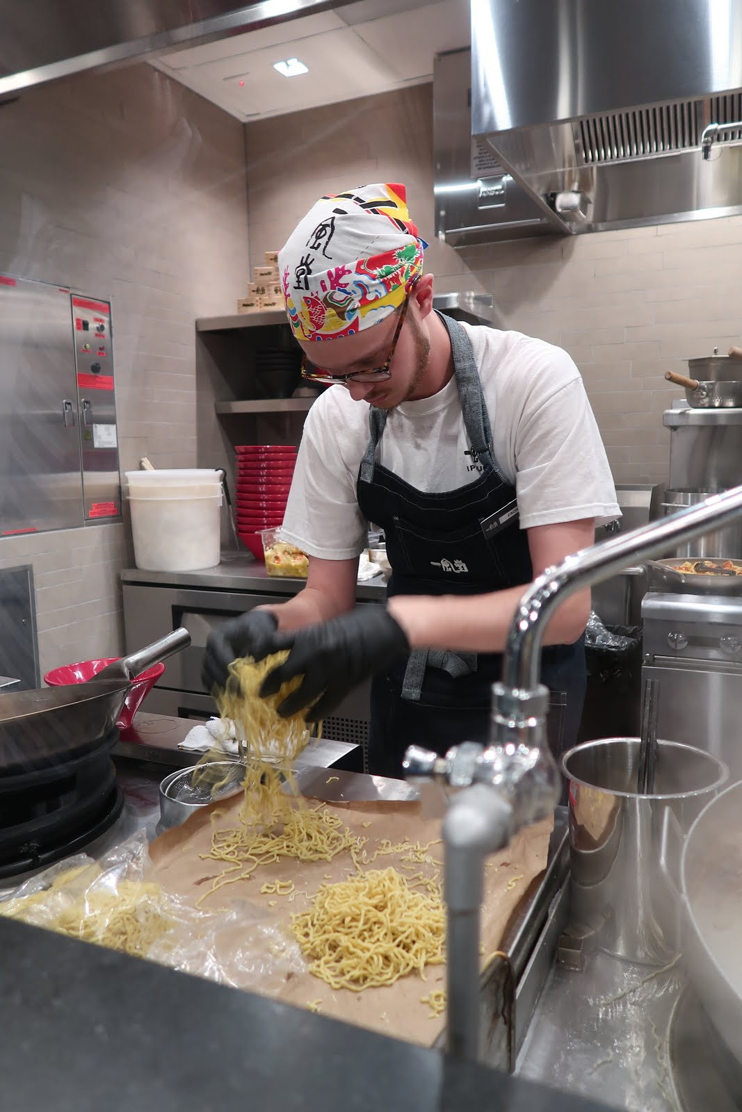 The ramen-making process at Ippudo's San Francisco opening.