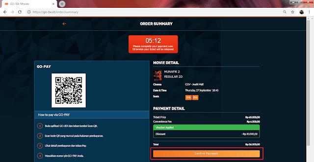 scan barcode untuk pembayaran via gopay
