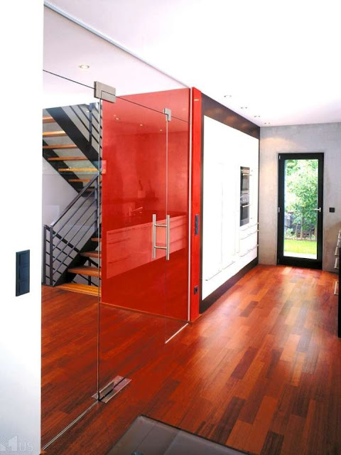 Stylish glass interior door