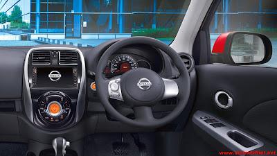 Desain Interior Nissan March yang luas dan canggih