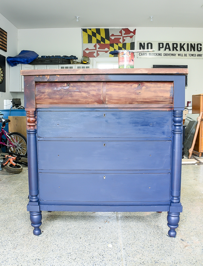 Painting Empire Dresser Coastal Blue