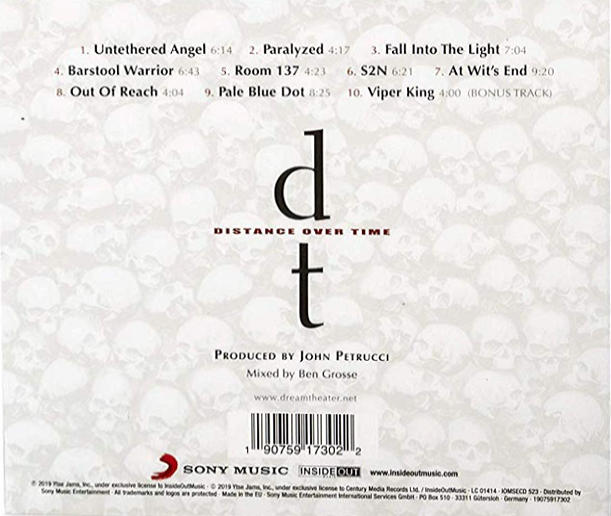 DREAM THEATER - Distance Over Time [Ltd. Digipack +1] (2019) back