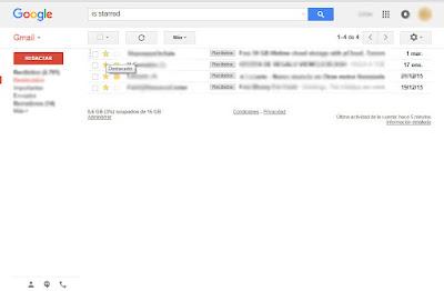 carpeta de mensajes destacados en gmail correo electrónico