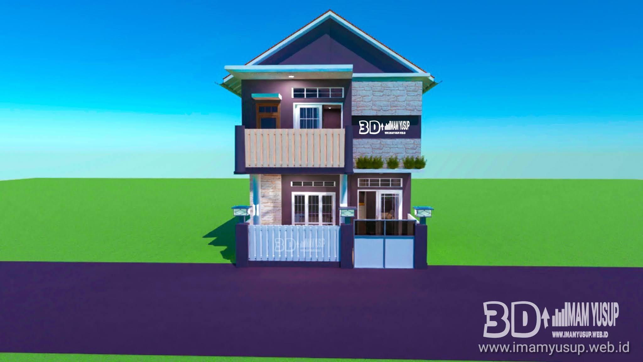 Desain Rumah 8x5 Minimalis Dibuat Dua Lantai Home Design Imam Yusup