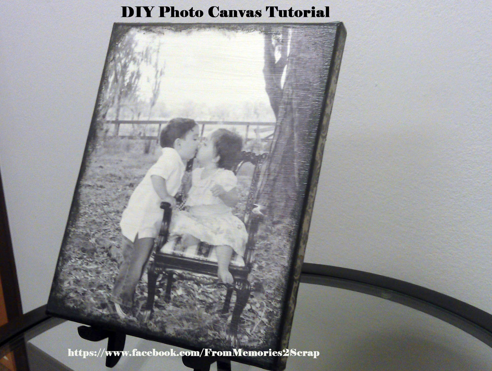 From Memories 2 Scrap: EASY Tutorial: DIY Photo Canvas