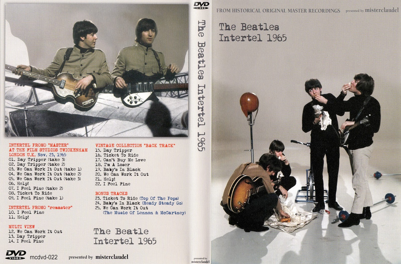 The Beatles - Intertel 1965 DVD