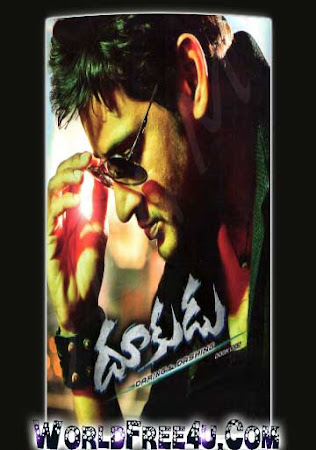 Poster Of Dookudu In Dual Audio Hindi Telugu 300MB Compressed Small Size Pc Movie Free Download Only At worldfree4u.com