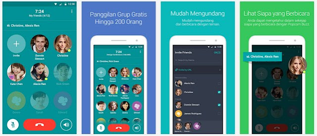 Popcorn Buzz, Aplikasi Telepon Grup Dari Line