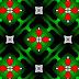 Leuke groene abstracte achtergrond met rode figuren