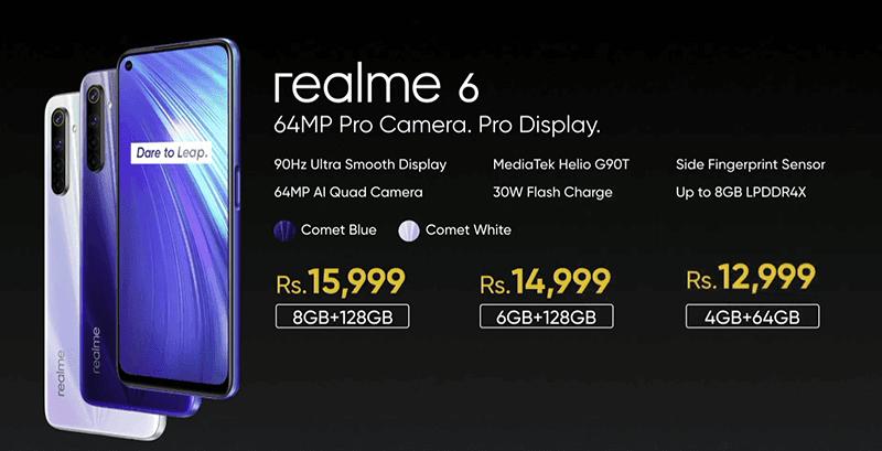 realme 6 prices