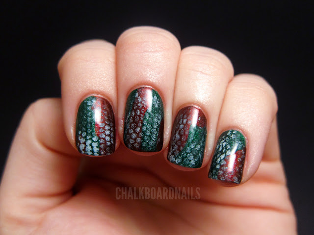 Christmas Snakeskin Chalkboard Nails Nail Art Blog