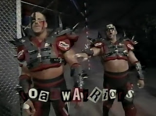 WCW UNCENSORED 1996 - The Road Warriors faced Booker T and Sting in a Chicago Street Fight
