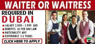 Captain Waiter / Waiter / Runner / Barista / Cashier Job Recruitment in Dubai