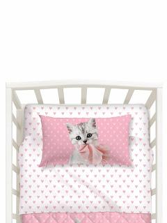 Baby Pink de Caleffi Studio Pets. Juego de sábanas 3 piezas CUNA