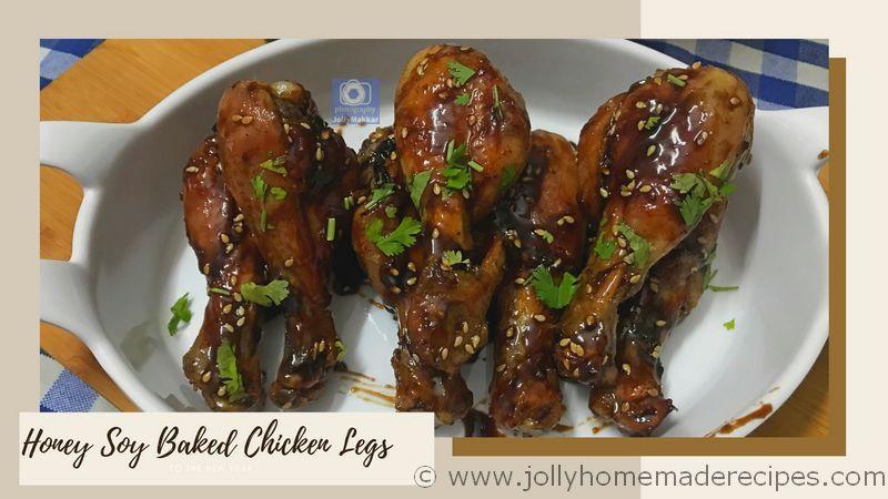 Honey Garlic Baked Chicken Legs