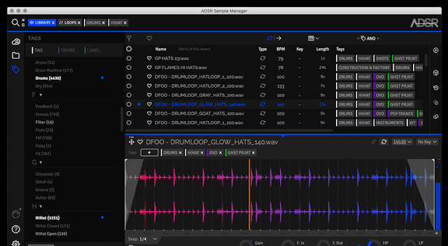 ADSR Sounds Sample Manager v1.6.0 VST AU AXX x64 x86 WiN MAC [FREE]