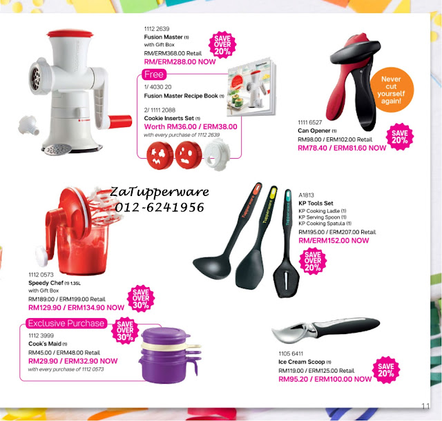 Tupperware Mini Catalogue 1st August - 31st August 2017
