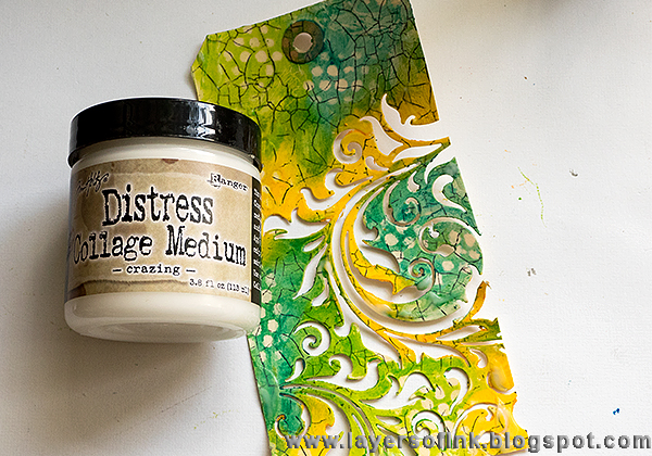 Layers of ink - Multi-Coloured Embossed Butterfly Tutorial by Anna-Karin with Sizzix dies by Tim Holtz and Distress Crayons