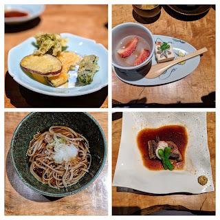 Dinner at our Matsumoto Ryokan - Hotel Tamanoyu