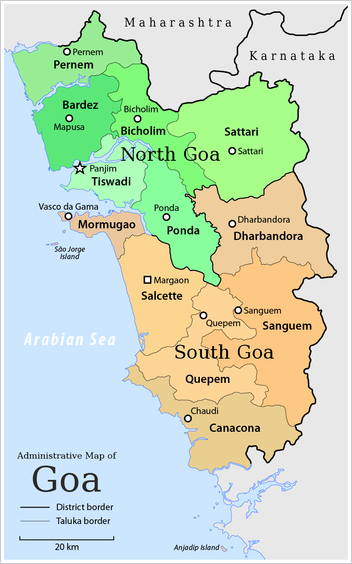 Goa Map Showing Interior Design Services Naik Construction Offers