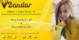 Bonus Cashback 2x Judi Poker Online VBandar99.com - www.Sakong2018.com