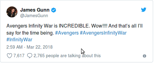 Ганн доволен Мстителями 3