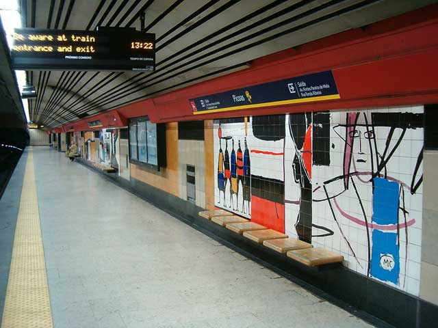 Picoas Metro Station Lisbon