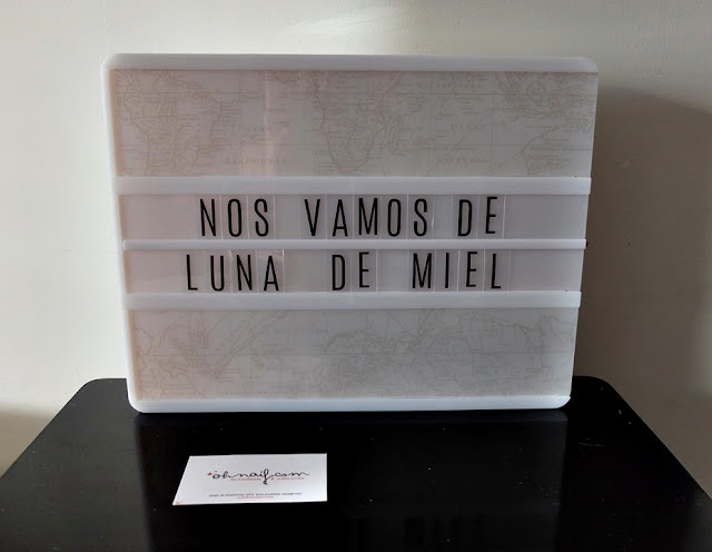 lightbox caja de luz nos vamos de luna de miel