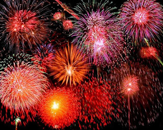 Gambar DP Kembang Api Tahun Baru Animasi Bergerak