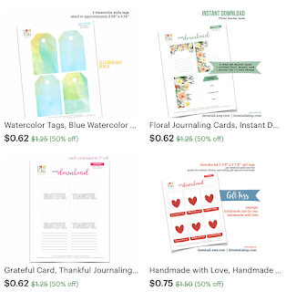 #instant downloads #printables #printable #journaling cards #planner pages #tags #labels #watercolor #calendar